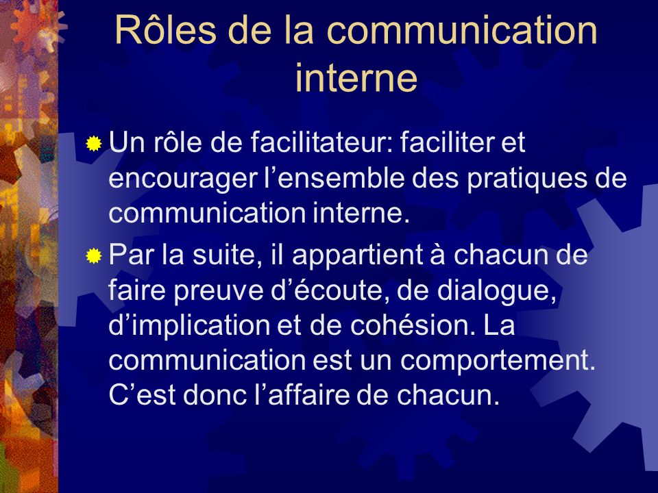 Rôles de la communication interne