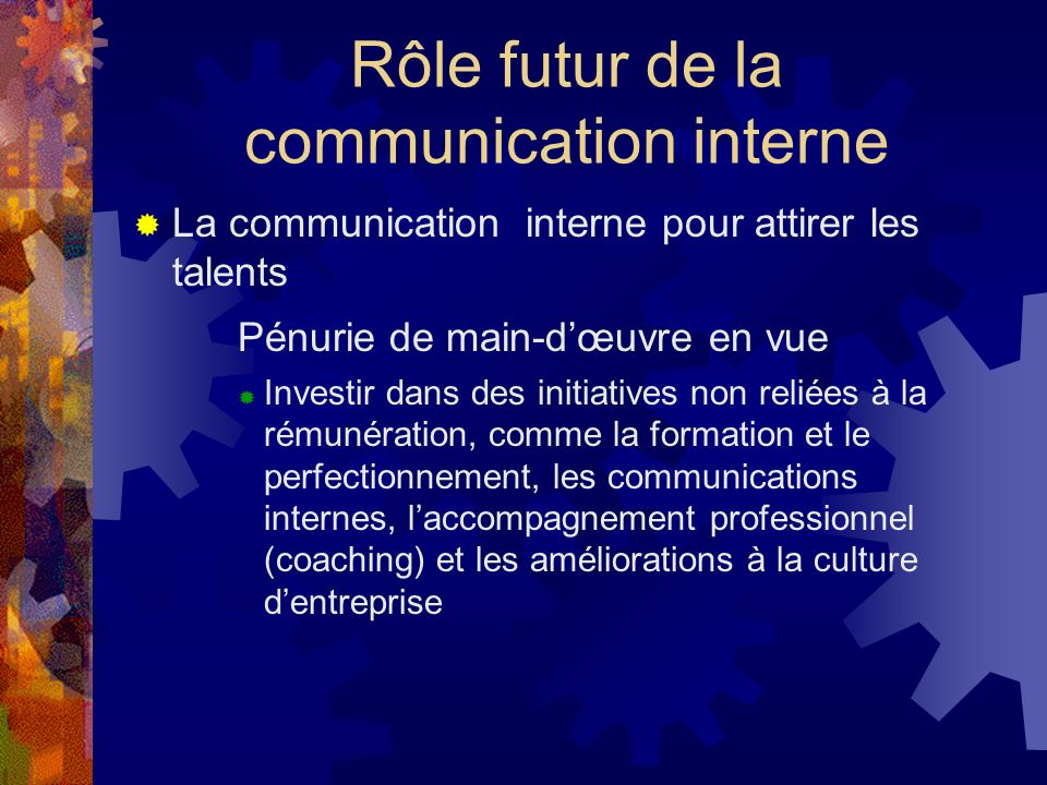 Rôle futur de la communication interne