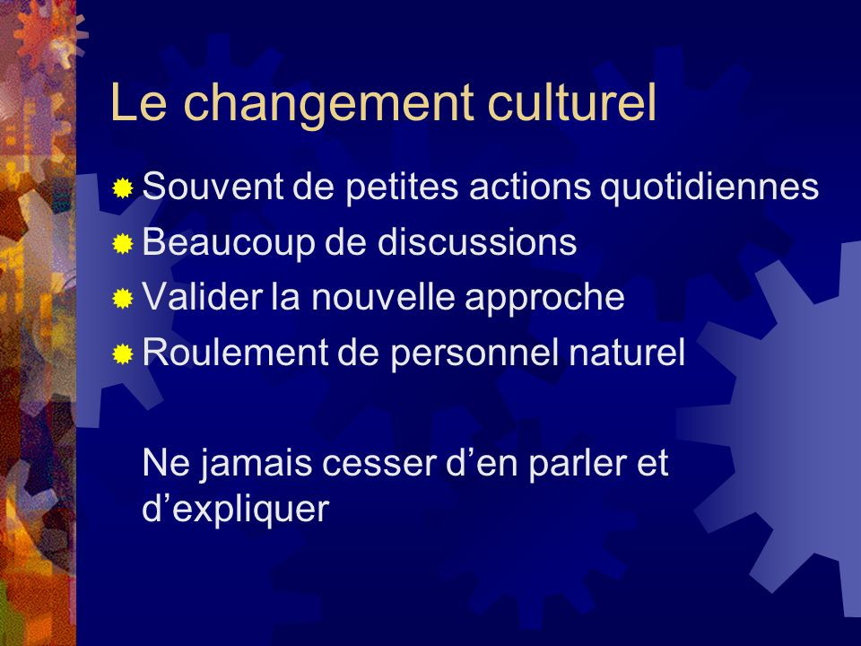 Le changement culturel