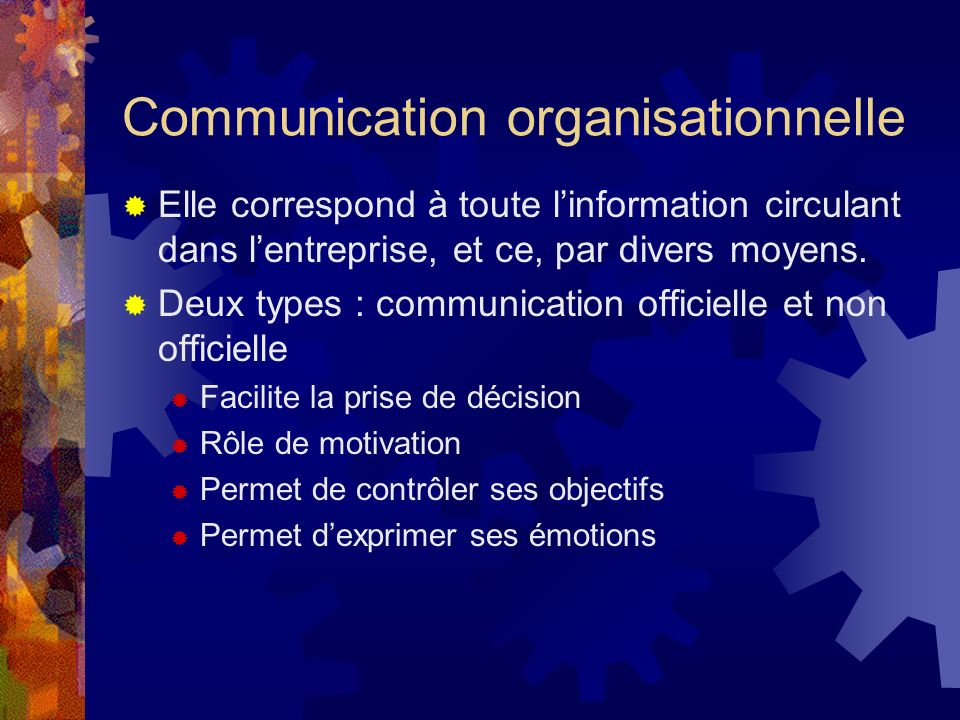 Communication organisationnelle