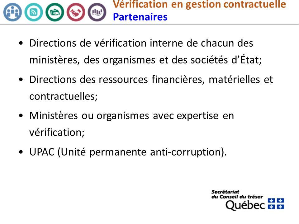 Vérification en gestion contractuelle Partenaires