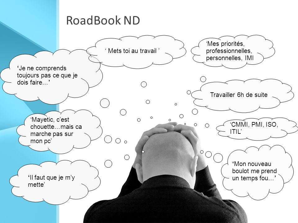 RoadBook ND 'Mes priorités, professionnelles, personnelles, IMI