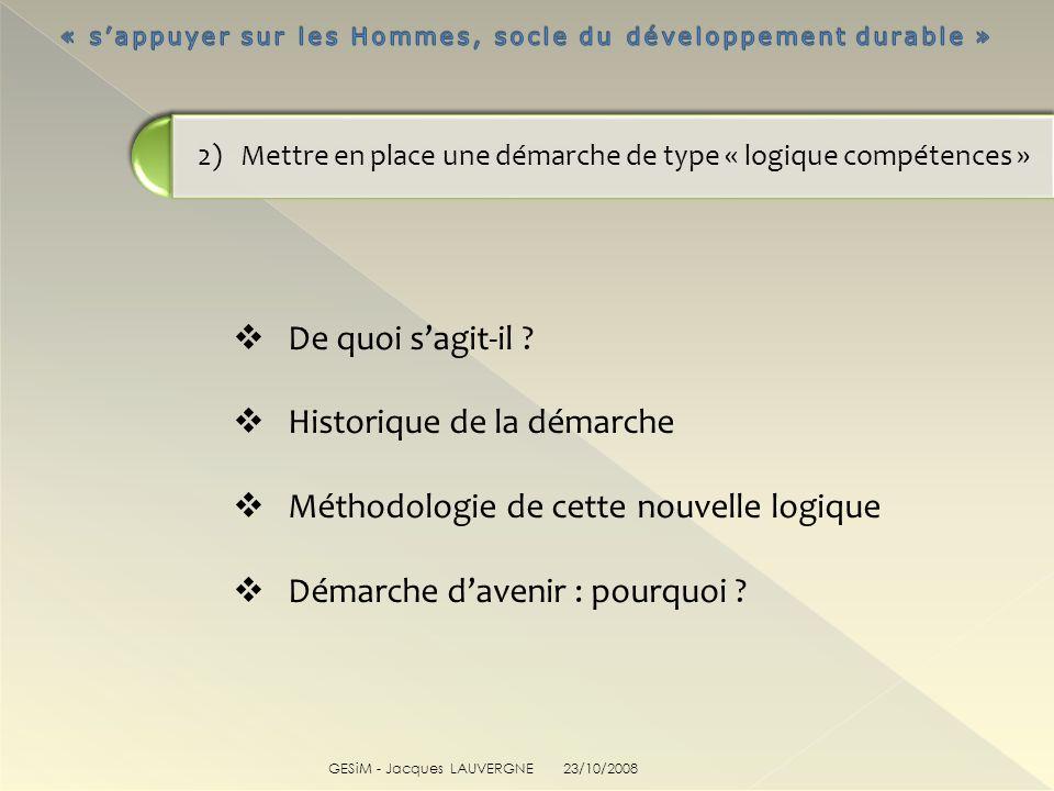 2) Mettre en place une démarche de type « logique compétences »
