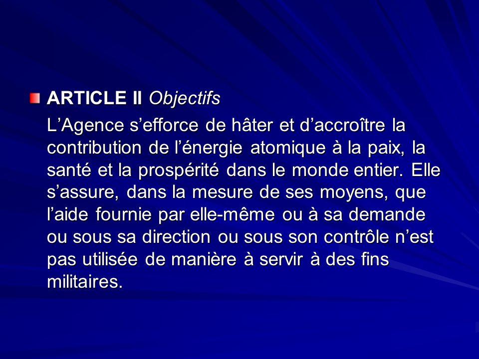 ARTICLE II Objectifs
