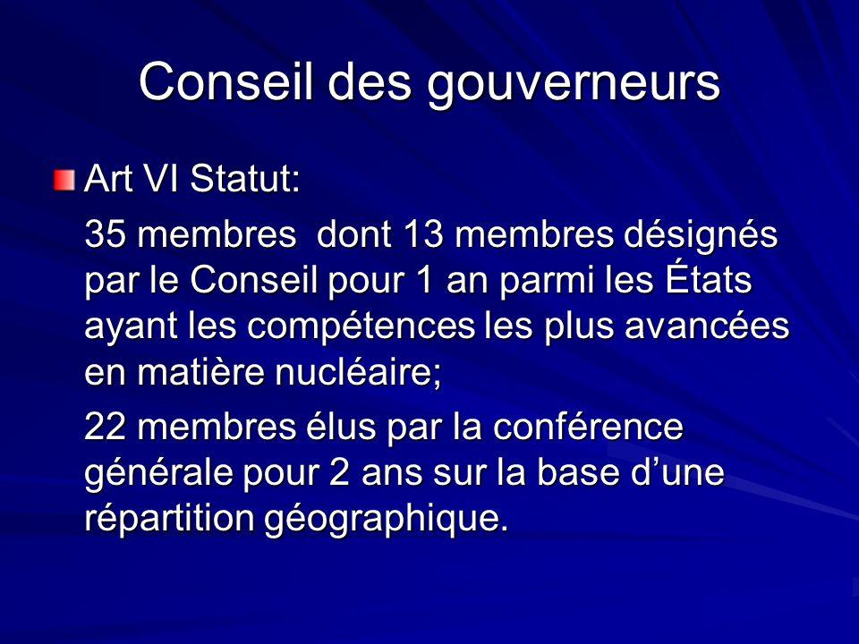 Conseil des gouverneurs