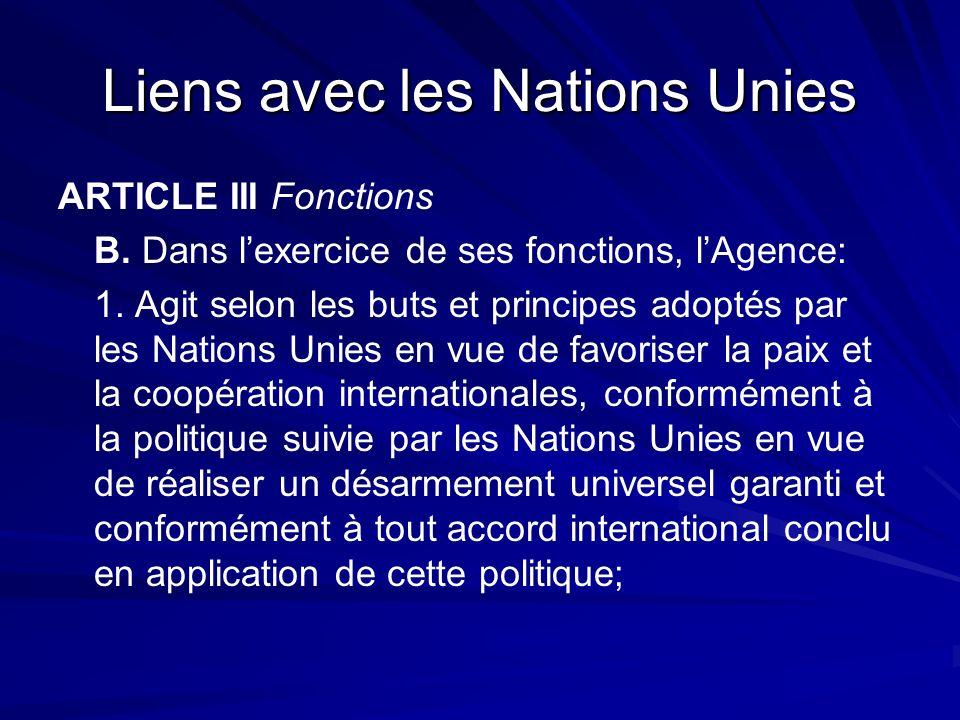 Liens avec les Nations Unies