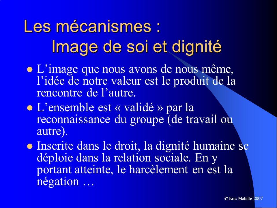 Les mécanismes : Image de soi et dignité
