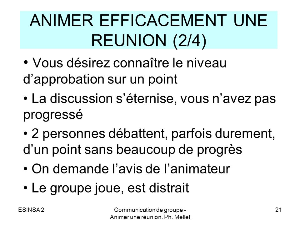ANIMER EFFICACEMENT UNE REUNION (2/4)