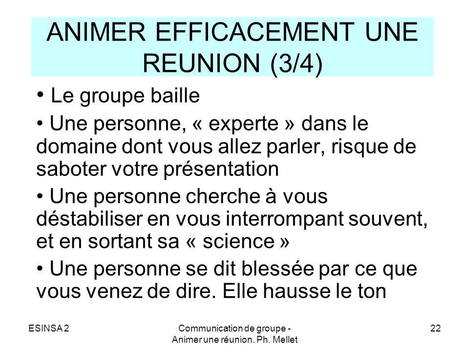 ANIMER EFFICACEMENT UNE REUNION (3/4)