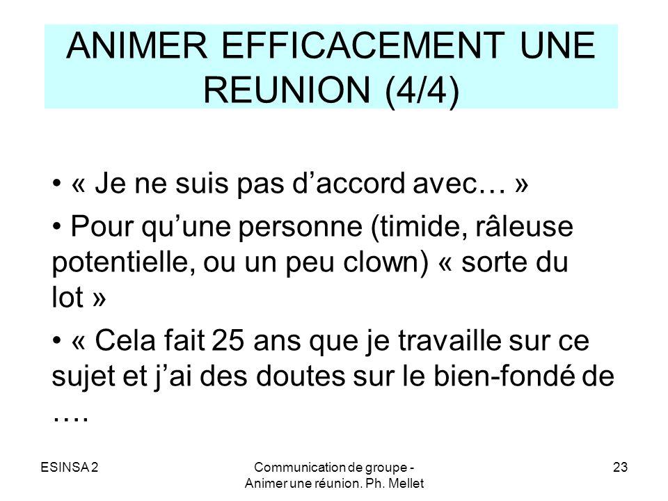 ANIMER EFFICACEMENT UNE REUNION (4/4)