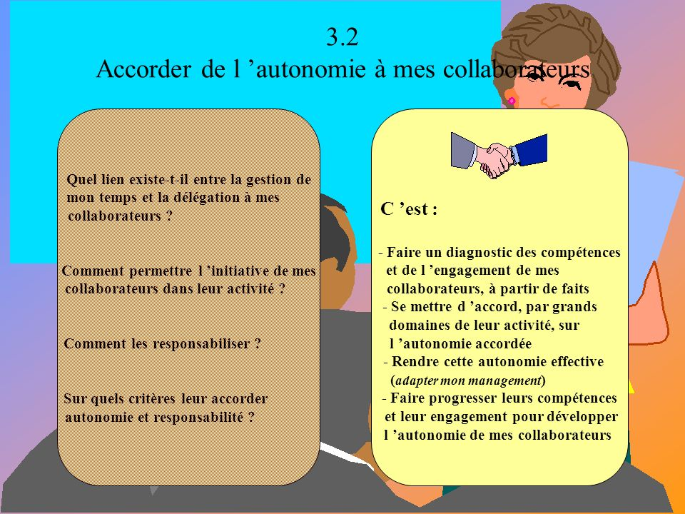 3.2 Accorder de l 'autonomie à mes collaborateurs