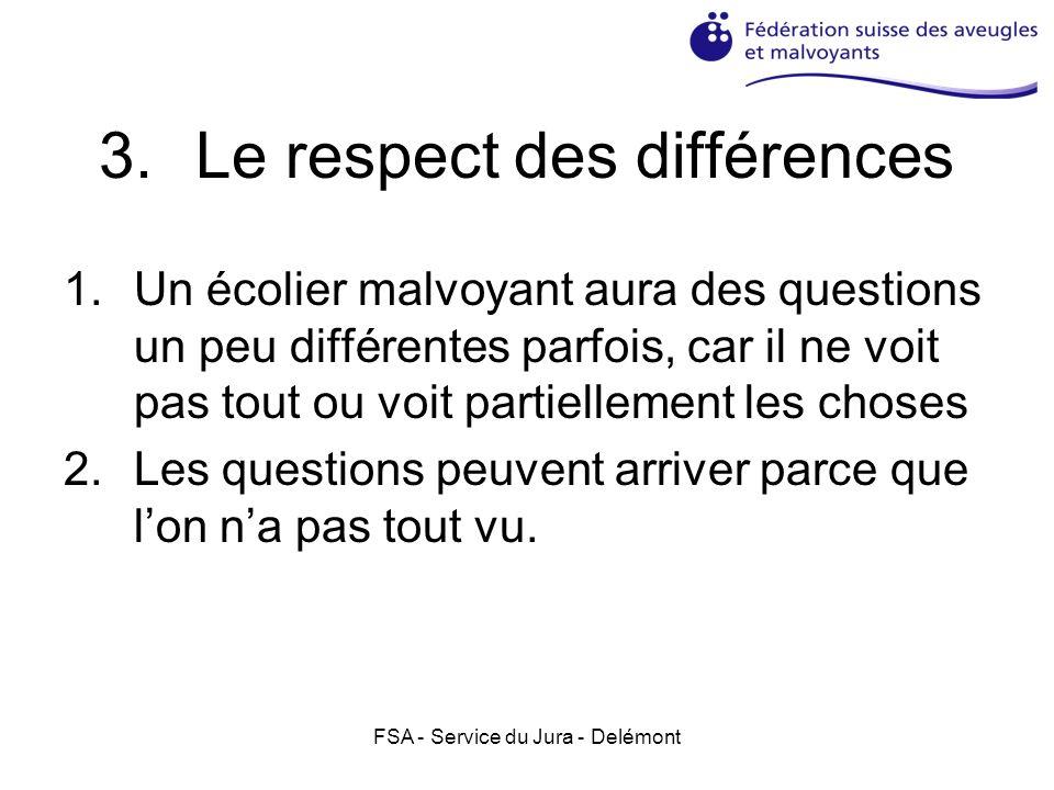Le respect des différences