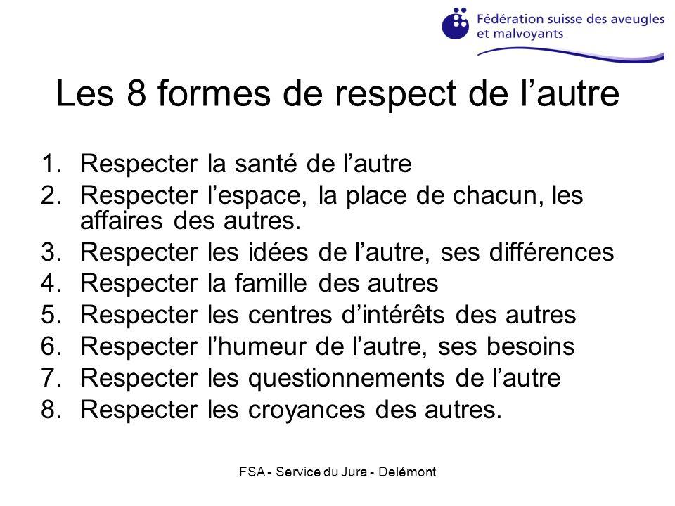Les 8 formes de respect de l'autre