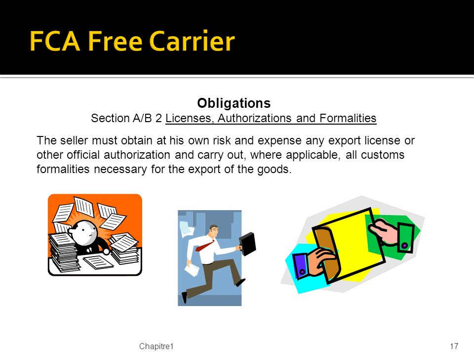 Section A/B 2 Licenses, Authorizations and Formalities