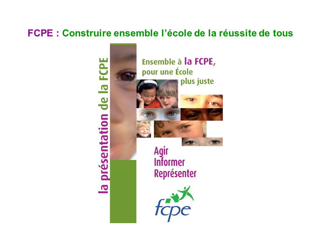 FCPE : Construire ensemble l'école de la réussite de tous