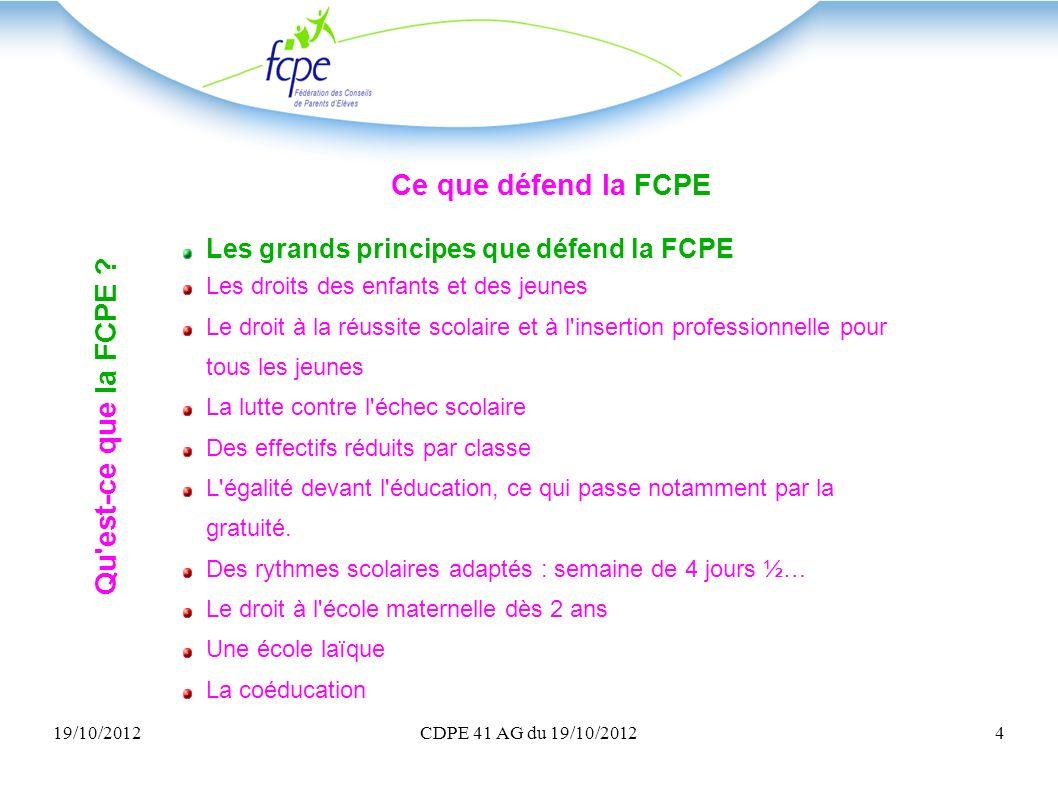 Ce que défend la FCPE Qu est-ce que la FCPE