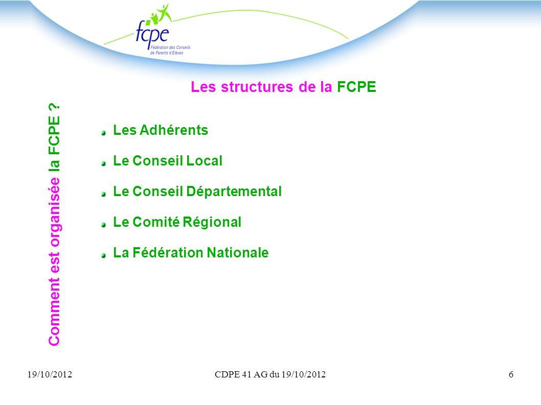 Les structures de la FCPE