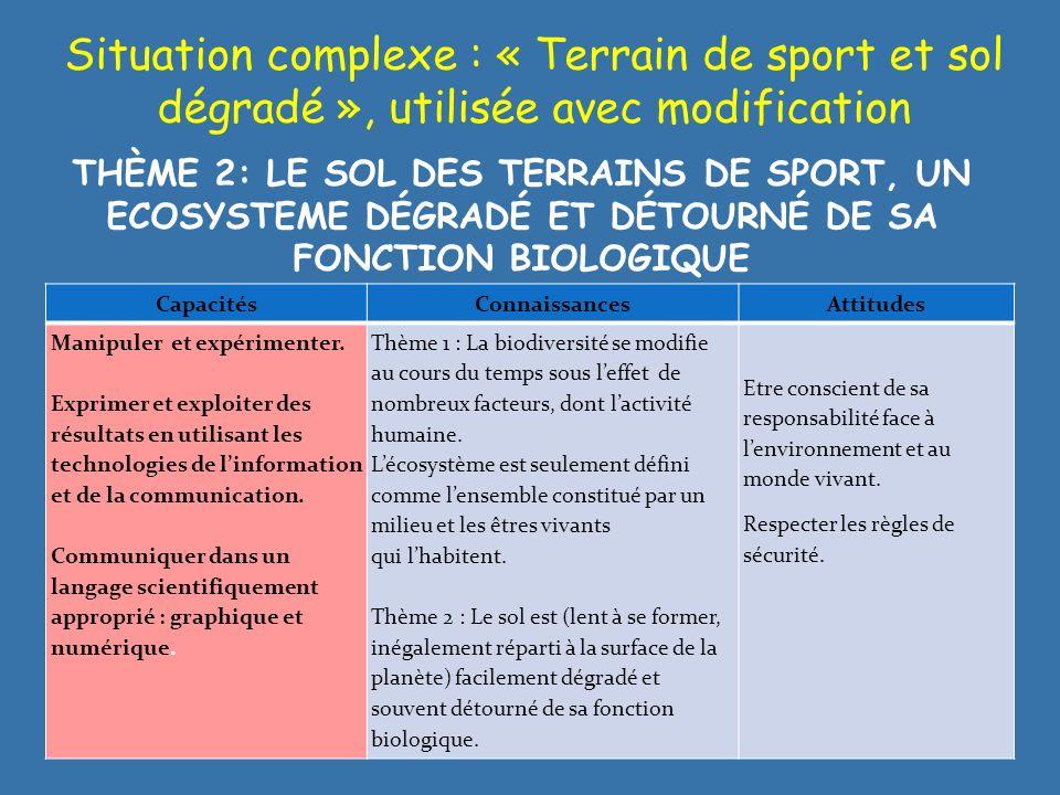 Situation complexe : « Terrain de sport et sol dégradé », utilisée avec modification