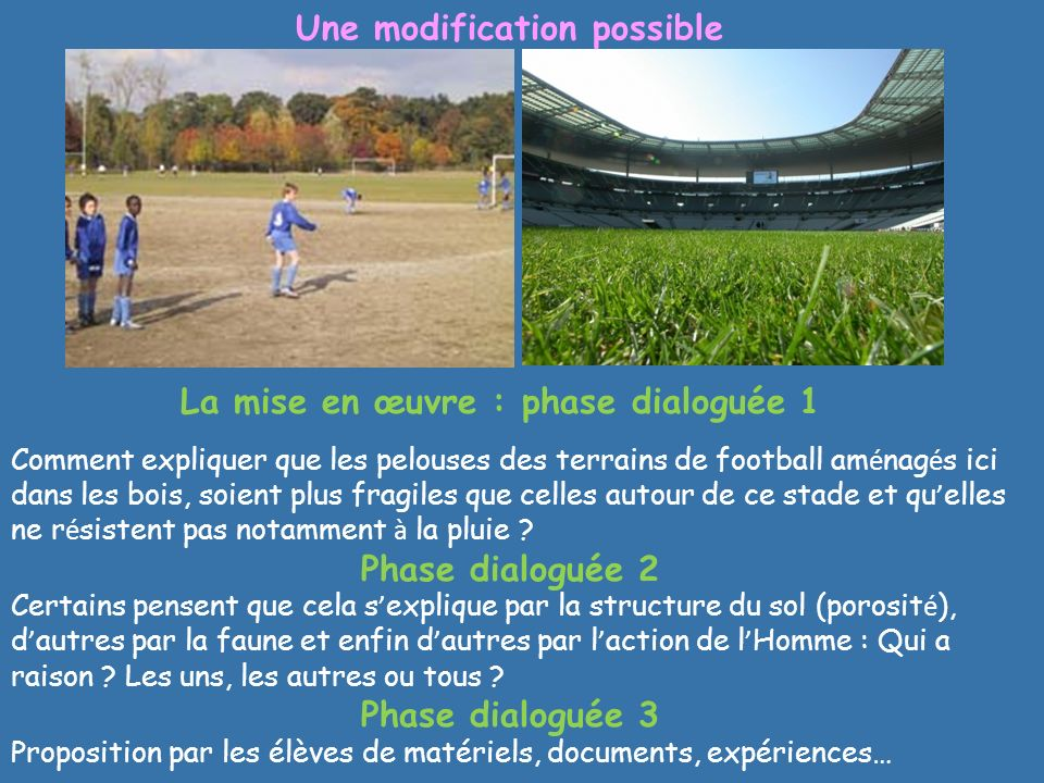 Une modification possible