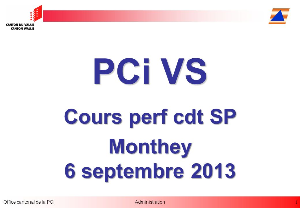 Cours perf cdt SP Monthey 6 septembre 2013