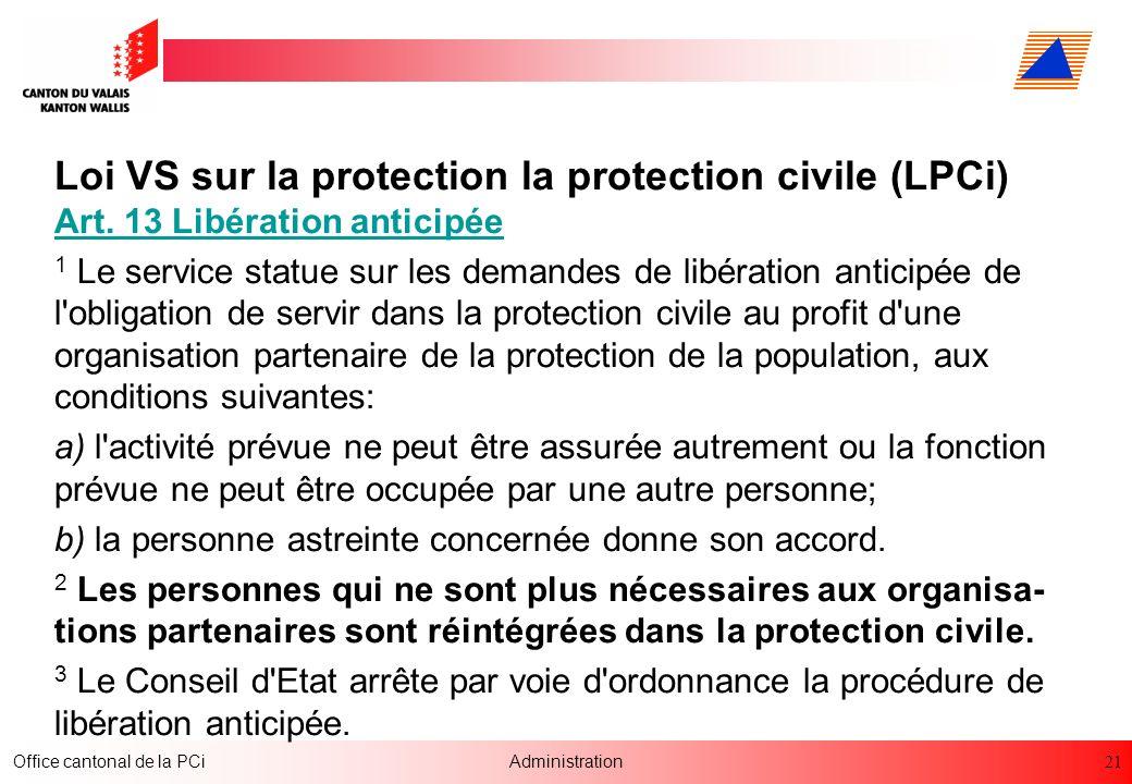 Loi VS sur la protection la protection civile (LPCi) Art