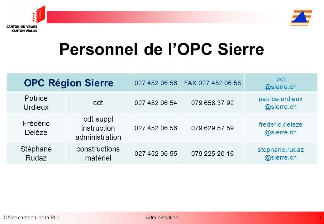 Personnel de l'OPC Sierre
