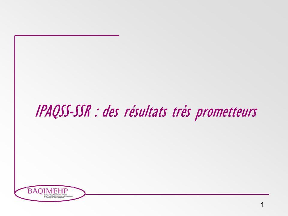 IPAQSS-SSR : des résultats très prometteurs