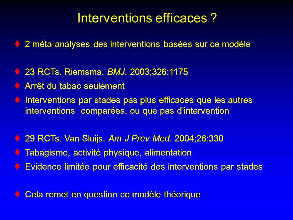 Interventions efficaces