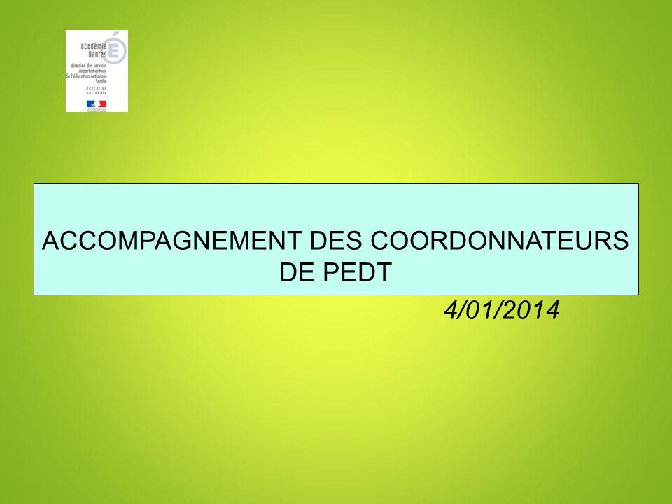 ACCOMPAGNEMENT DES COORDONNATEURS DE PEDT