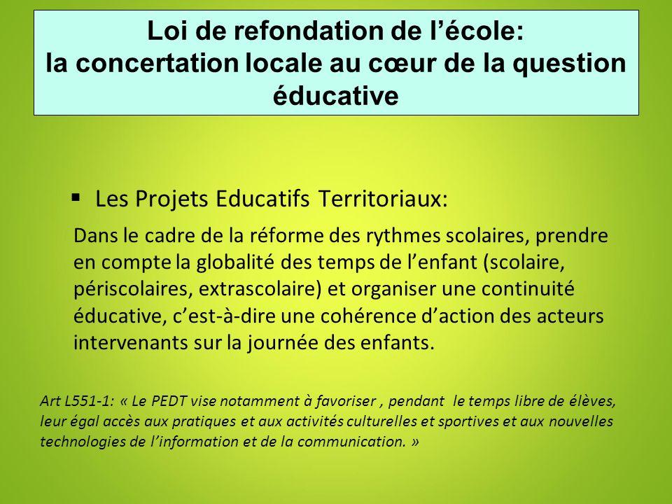 Loi de refondation de l'école: la concertation locale au cœur de la question éducative