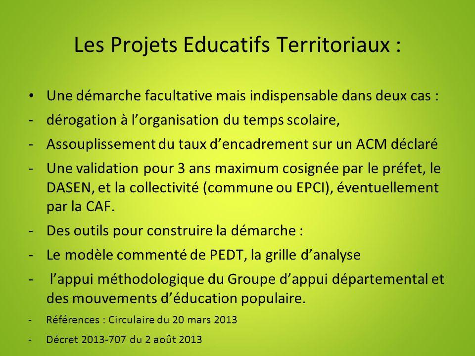 Les Projets Educatifs Territoriaux :