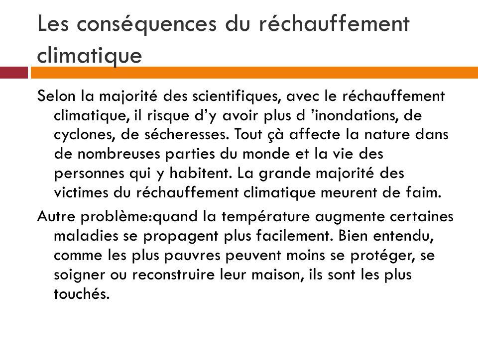Les conséquences du réchauffement climatique