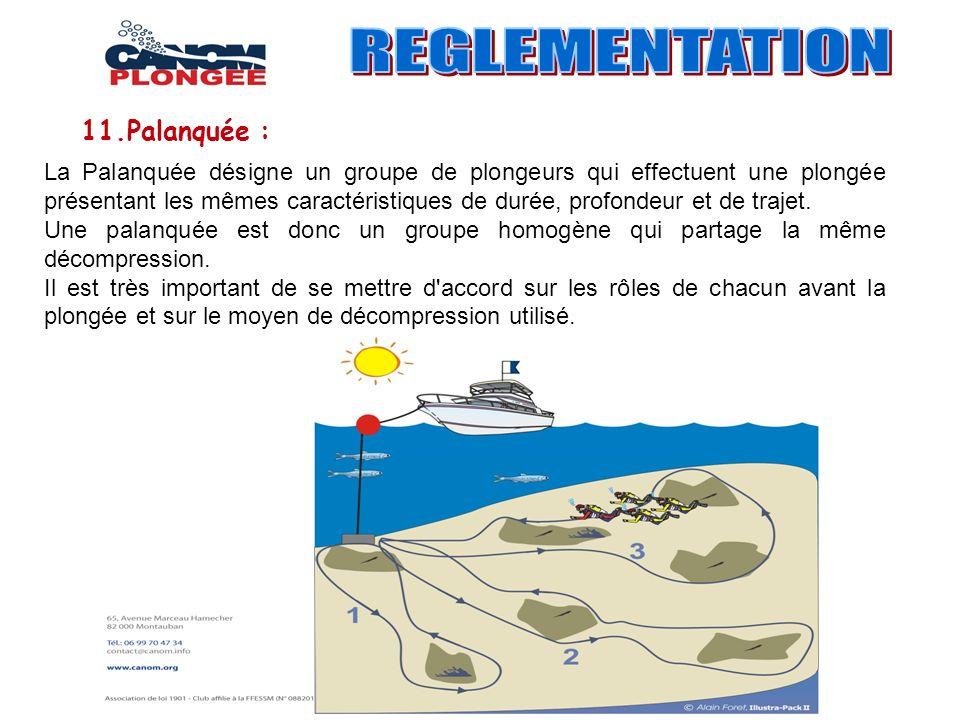 REGLEMENTATION 11.Palanquée :