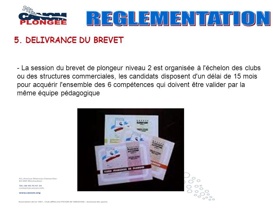 REGLEMENTATION 5. DELIVRANCE DU BREVET