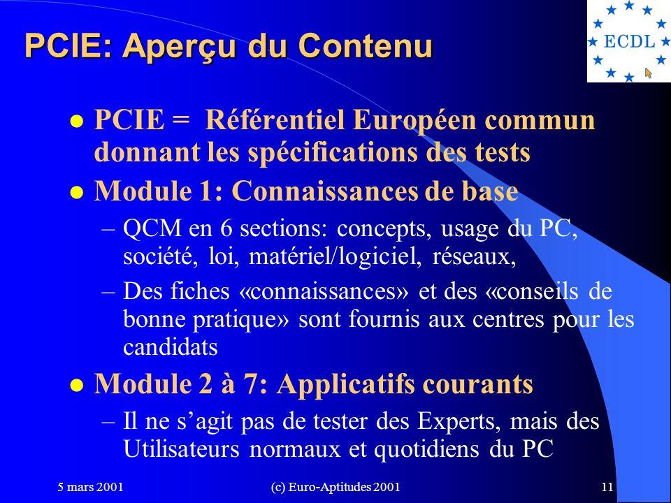 PCIE: Aperçu du Contenu