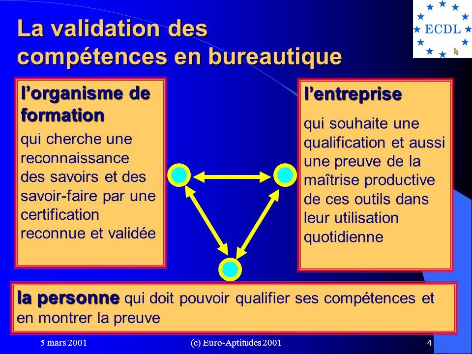 La validation des compétences en bureautique