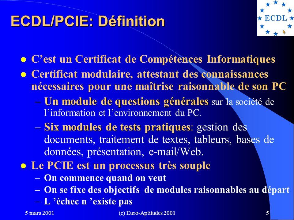 ECDL/PCIE: Définition