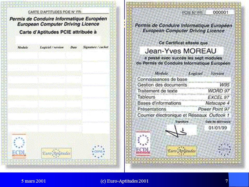 Carte d'Aptitudes PCIE