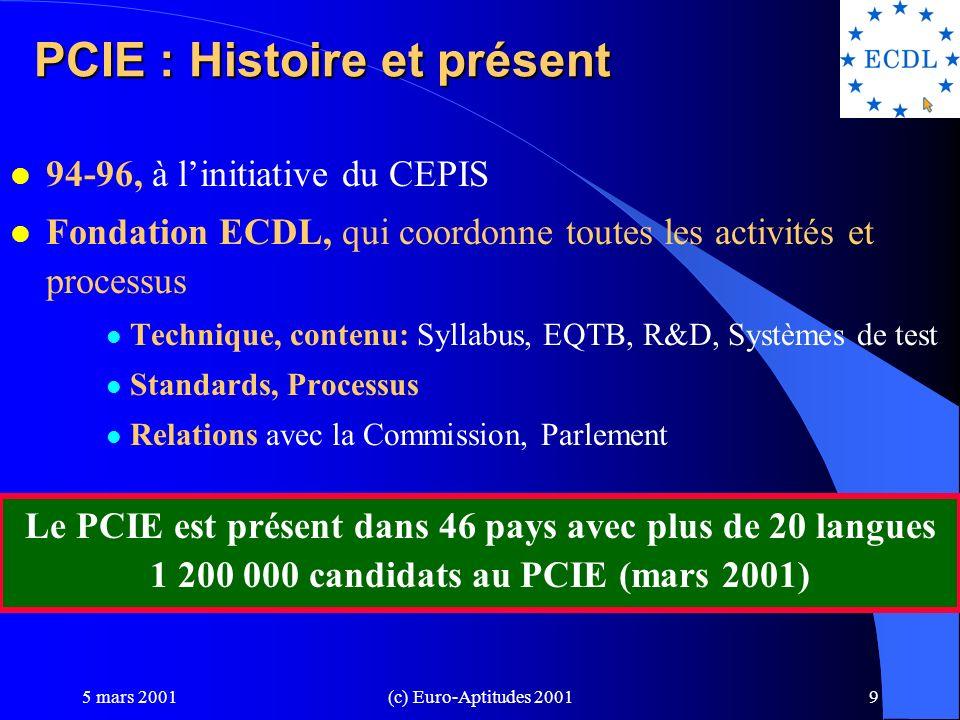 PCIE : Histoire et présent