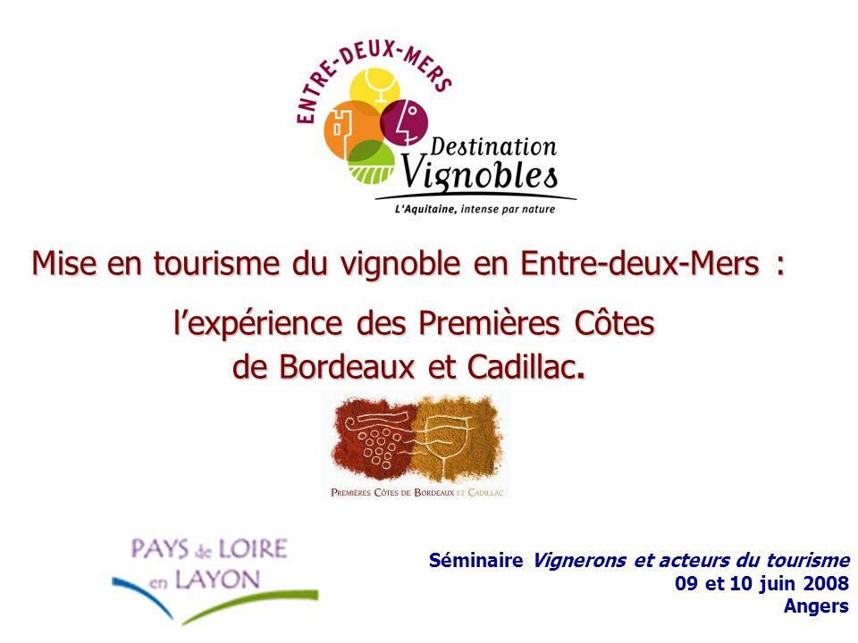 Mise en tourisme du vignoble en Entre-deux-Mers : l'expérience des Premières Côtes de Bordeaux et Cadillac.