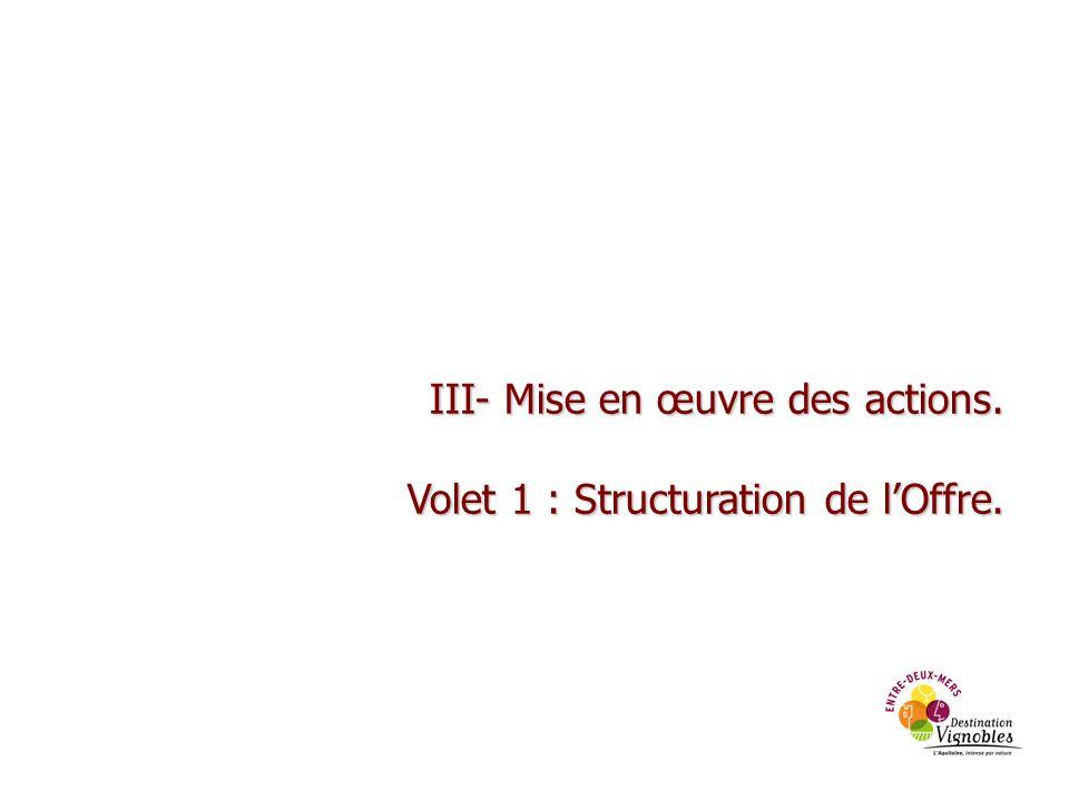 III- Mise en œuvre des actions.