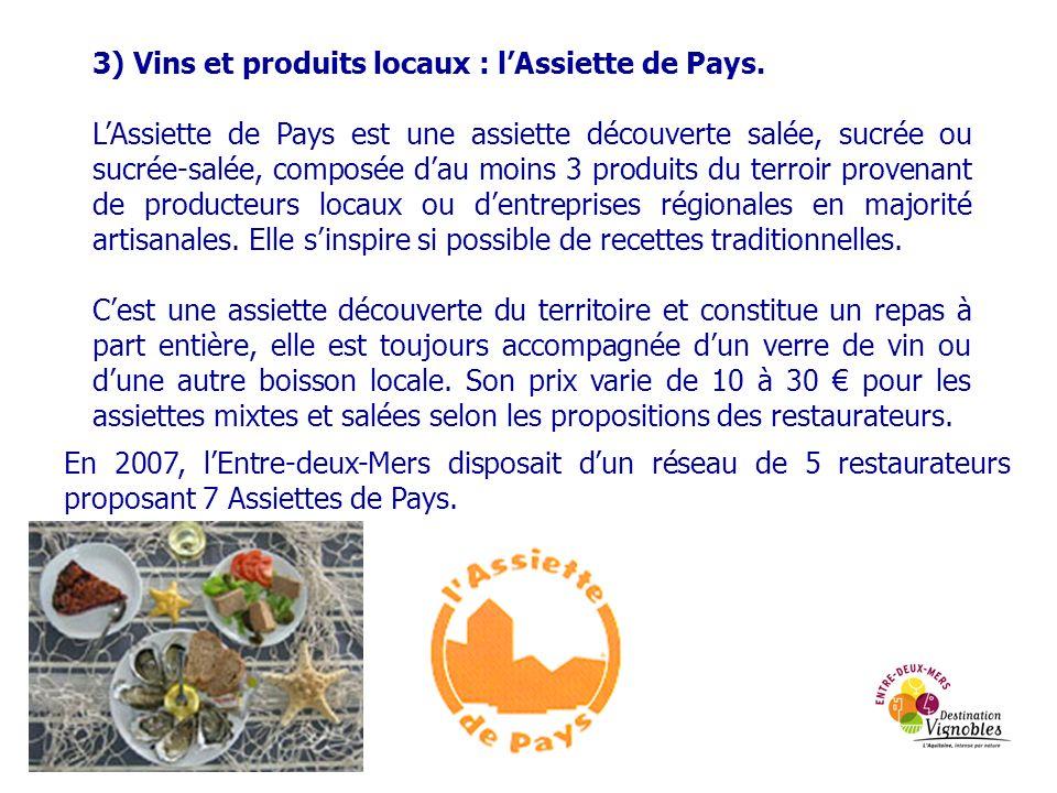 3) Vins et produits locaux : l'Assiette de Pays.