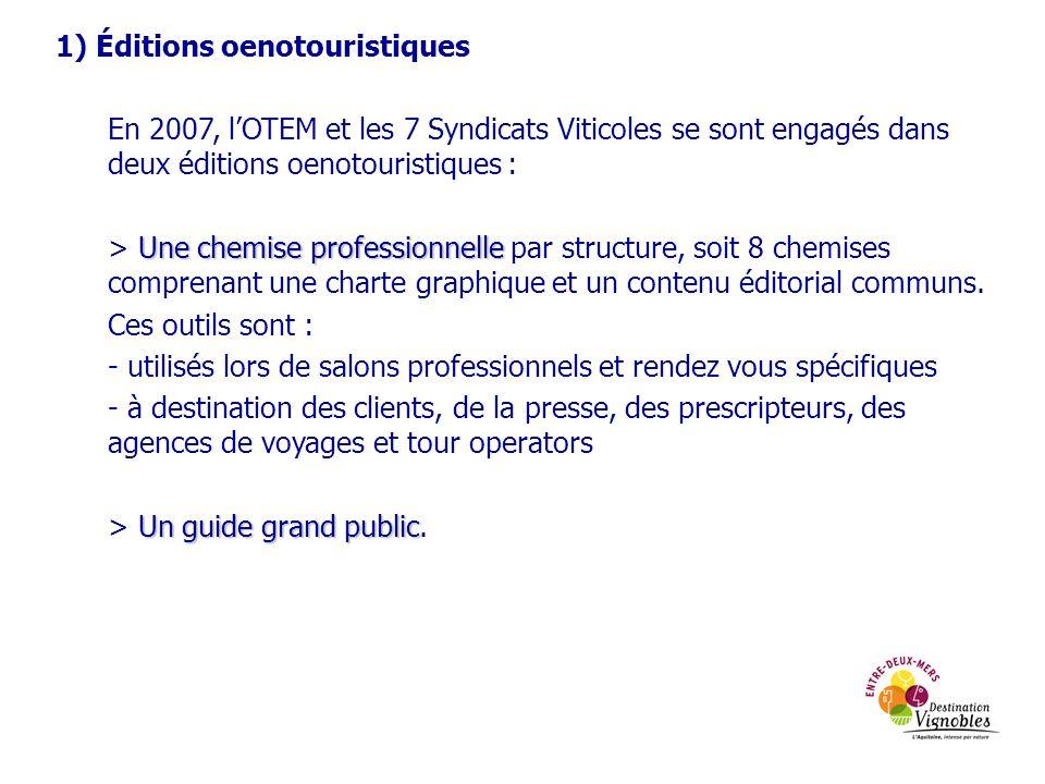 1) Éditions oenotouristiques