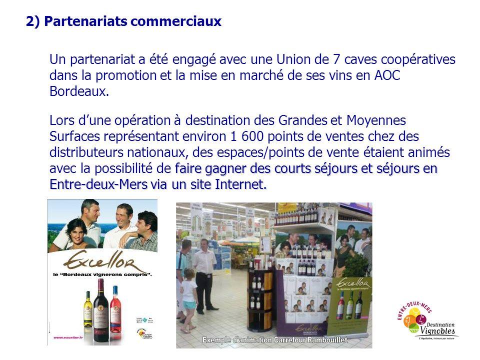 2) Partenariats commerciaux