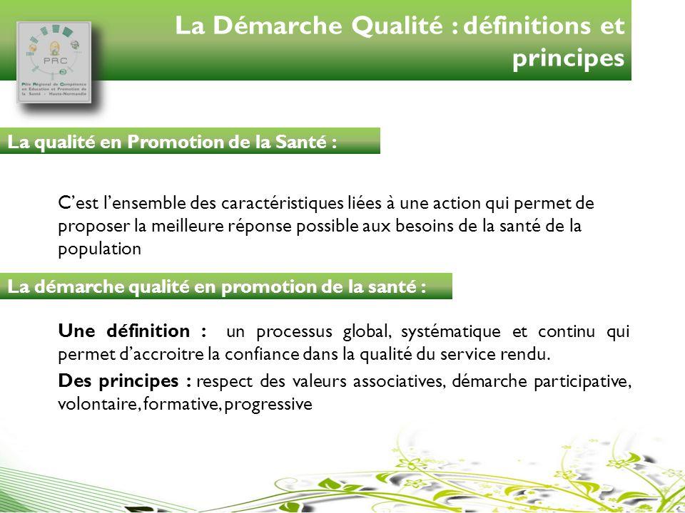 La Démarche Qualité : définitions et principes