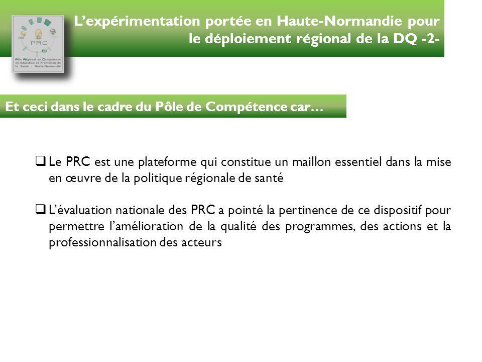 L'expérimentation portée en Haute-Normandie pour le déploiement régional de la DQ -2-