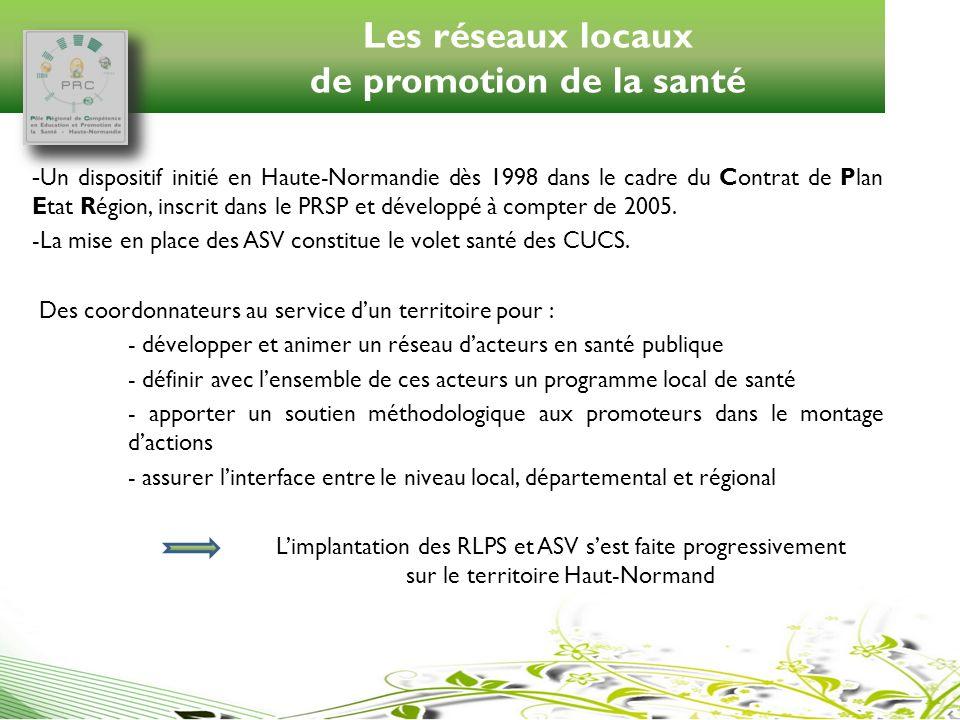 Les réseaux locaux de promotion de la santé