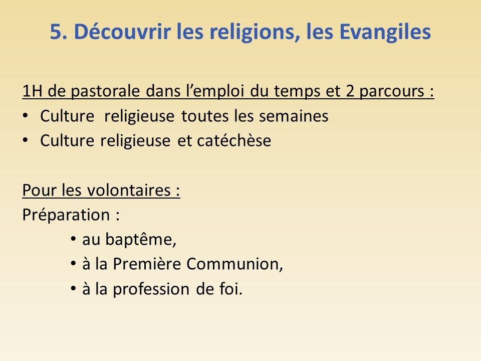 5. Découvrir les religions, les Evangiles