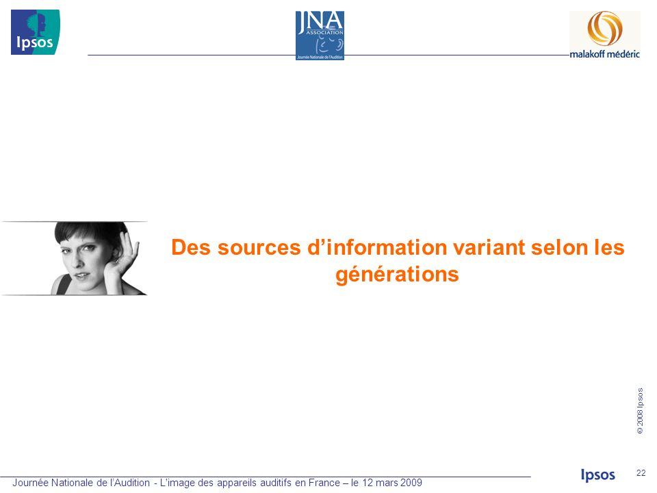 Des sources d'information variant selon les générations