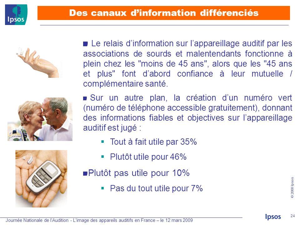 Des canaux d'information différenciés